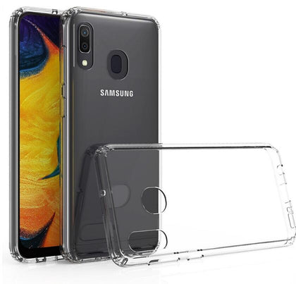 Hard Clear Samsung Galaxy A20 Case Clear Heavy Duty Shockproof Slim Cover