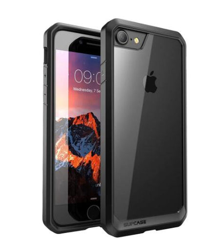 20 SUPCASE Unicorn Beetle Series Premium Hybrid Protective Clear Case for Apple iPhone 8  (Black)