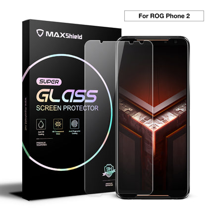 MAXSHIELD Screen Glass Tempered Glass Lens Protector FULL COVER For ASUS ROG 2