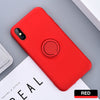 iPhone 8 Thin Soft Silicone Ring Holder Case Cover