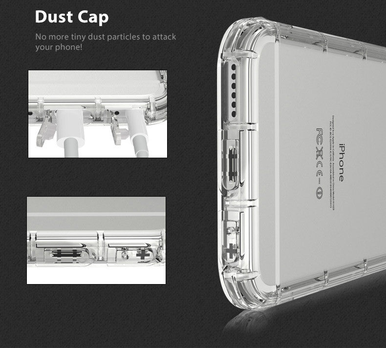 TAGGSHIELD Crystal Clear Shield Bumper Case Cover For iPhone 6 / 6s Plus (Clear)