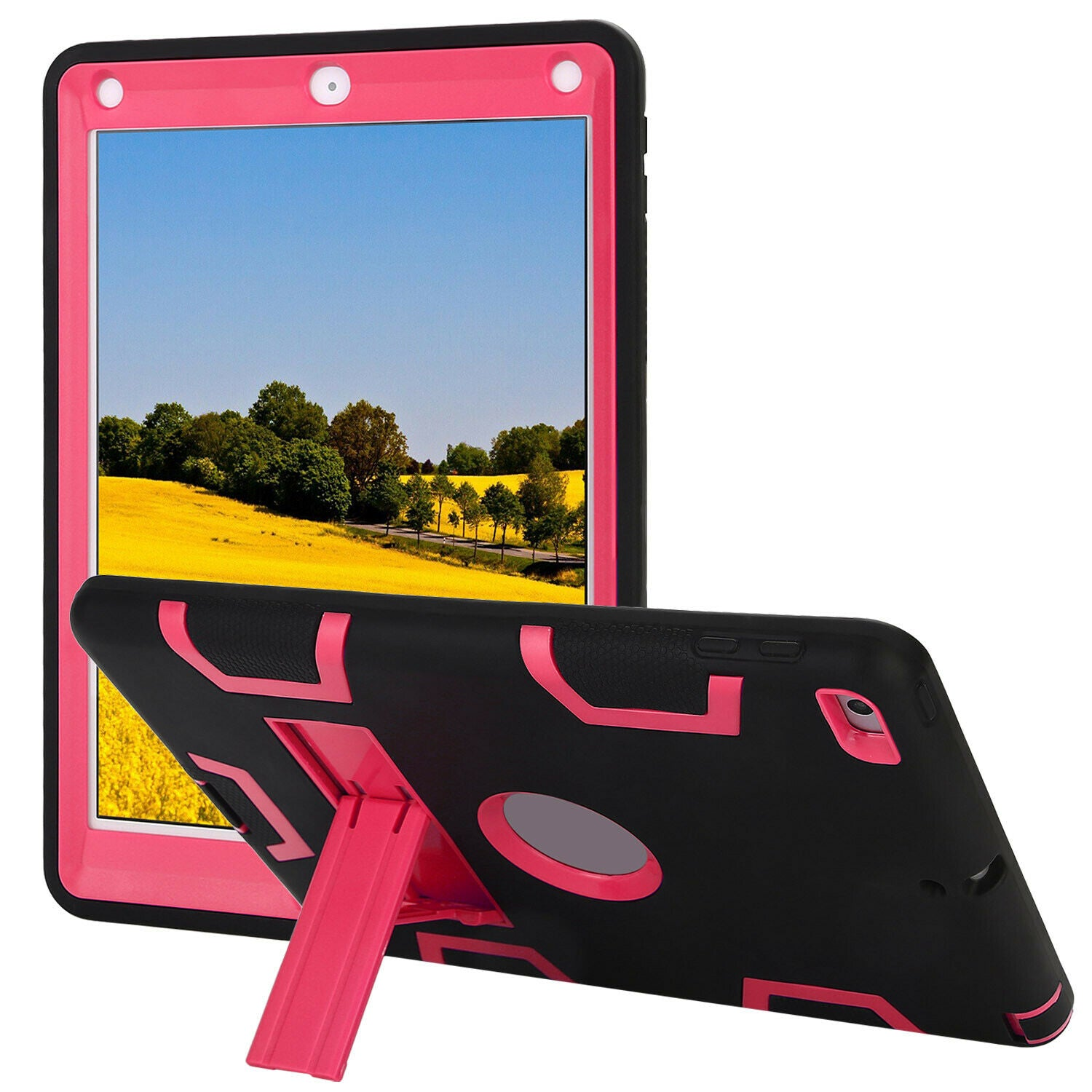 Kids Shockproof Case Heavy Duty Tough Kick Stand Cover for iPad Mini 1/2/3