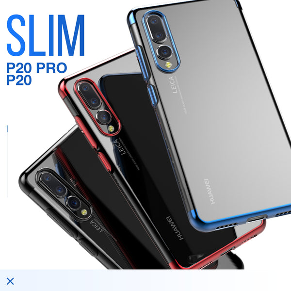official photos e8db8 540f0 Huawei P20 Pro Case Slim Clear Soft Bumper Shockproof Thin Back Cover