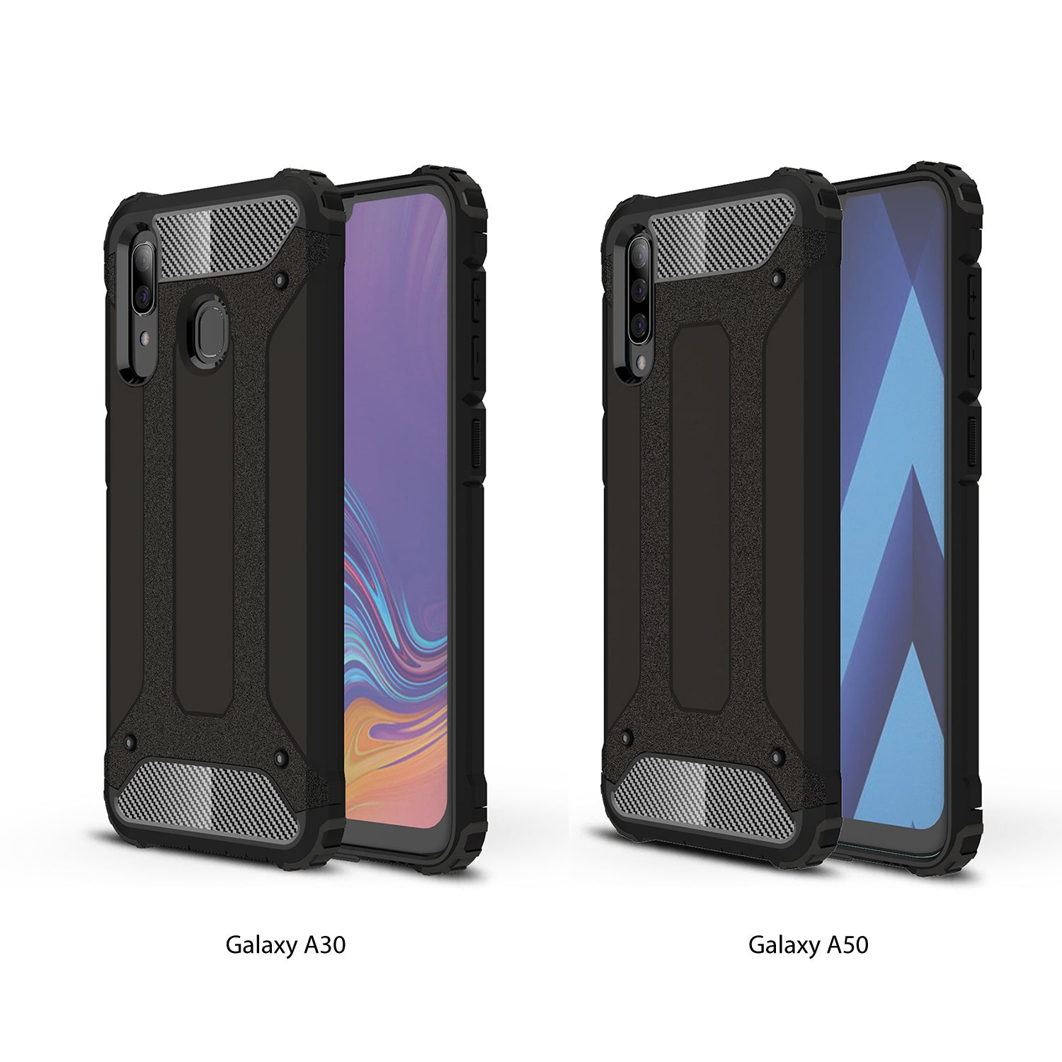 Samsung Galaxy A30 Case, Premium Flexible Soft Anti Slip TPU Case Cover-Black
