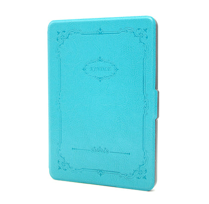 Thinnest Leather SmartShell Case Cover for New Kindle Touch 6th, 7th Gen - Blue