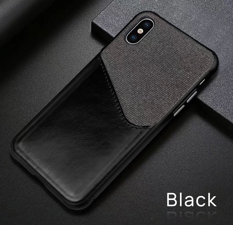 iPhone XS Wallet Case Leather Slim Layered Card Slot Cover