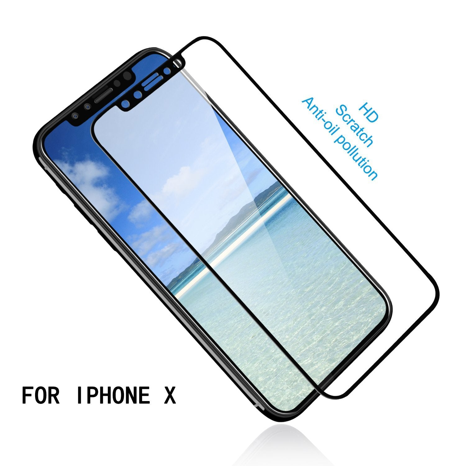 MAXSHILD 5D Full Coverage Glass Screen Protector For Apple iPhone 8 (Black)