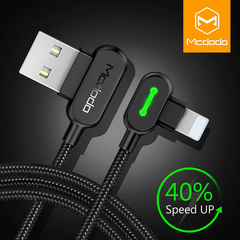 Mcdodo Lightning Cable Heavy Duty Charging Syn Charger iPhone 7 8 Plus XR XS Max