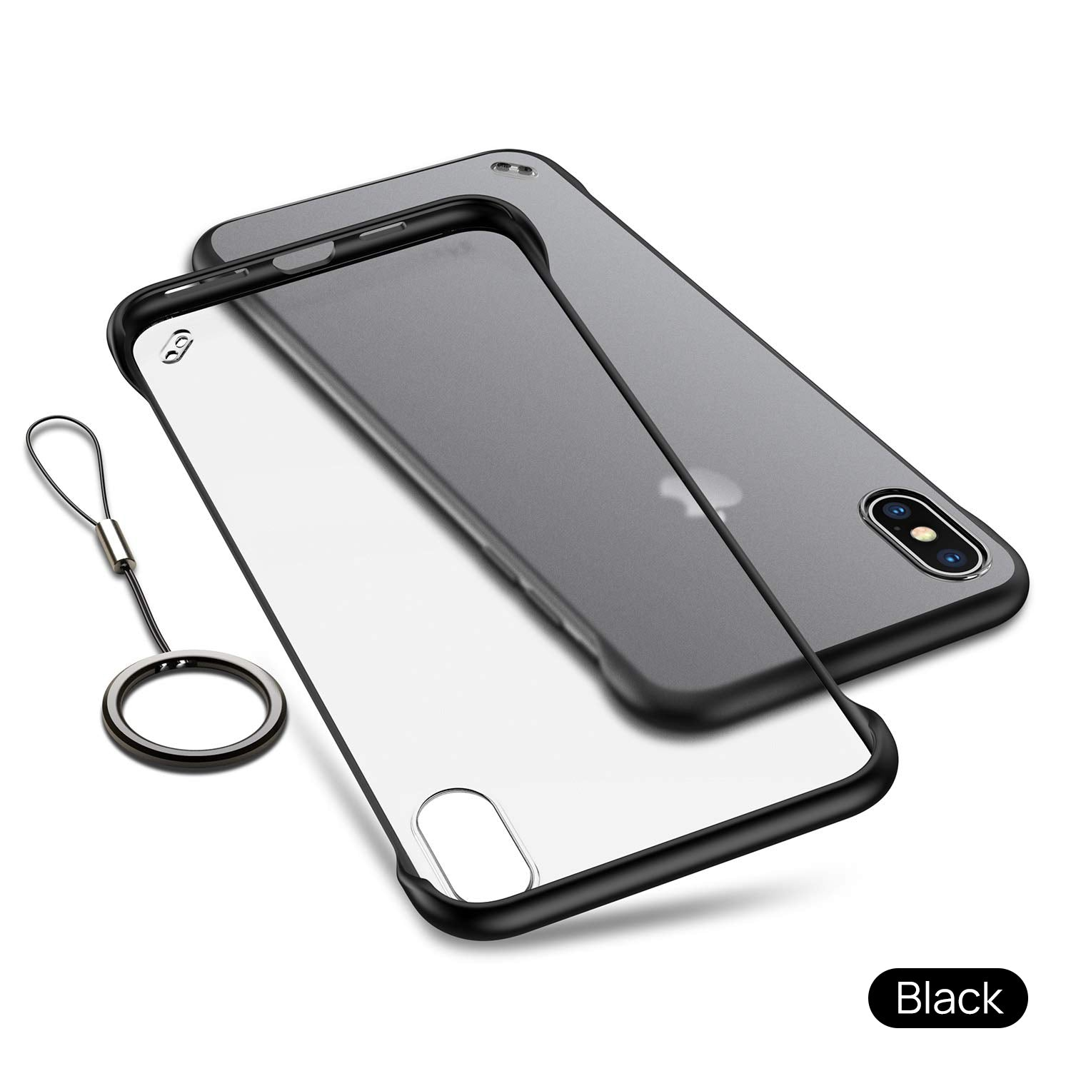 iPhone X Case Cover, Slim Matte Back Clear TPU ShockProof Bumper