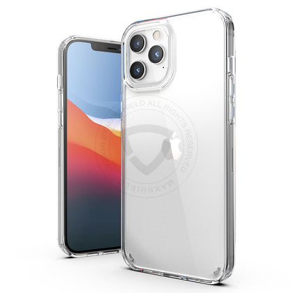 MAXSHIELD For iPhone 12 Pro 6.1 Inch Case Heavy Duty Shockproof Clear Slim Cover+Free Screen Protector