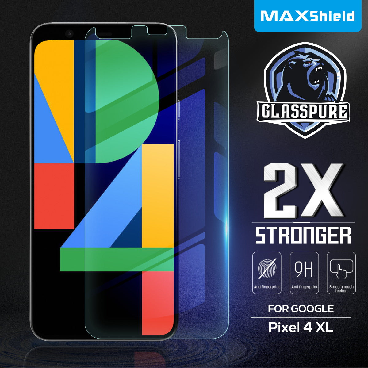 Google Pixel 4 XL MAXSHIELD Premium Tempered Glass Screen Protector