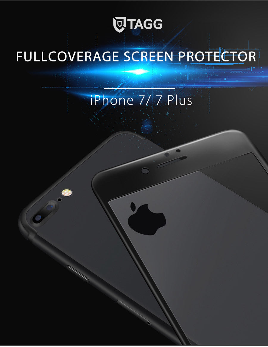 TAGG FULL SCREEN TEMPERED GLASS SCREEN PROTECTOR FOR IPHONE 7/7 PLUS