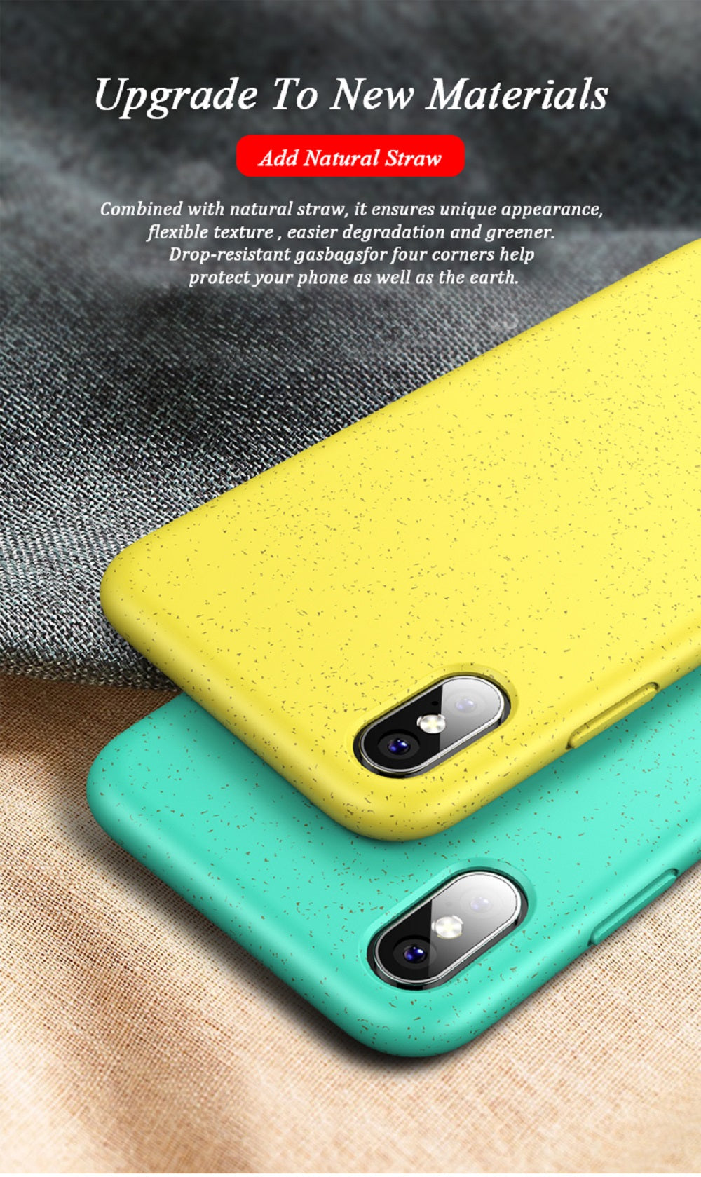 For iPhone X Shockproof Thin Soft Silicone Phone Back Cover Case