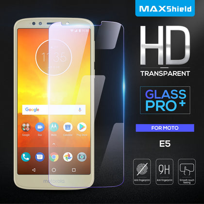 Genuine Maxshield Tempered Glass Screen Protector/Film for Motorola Moto E5