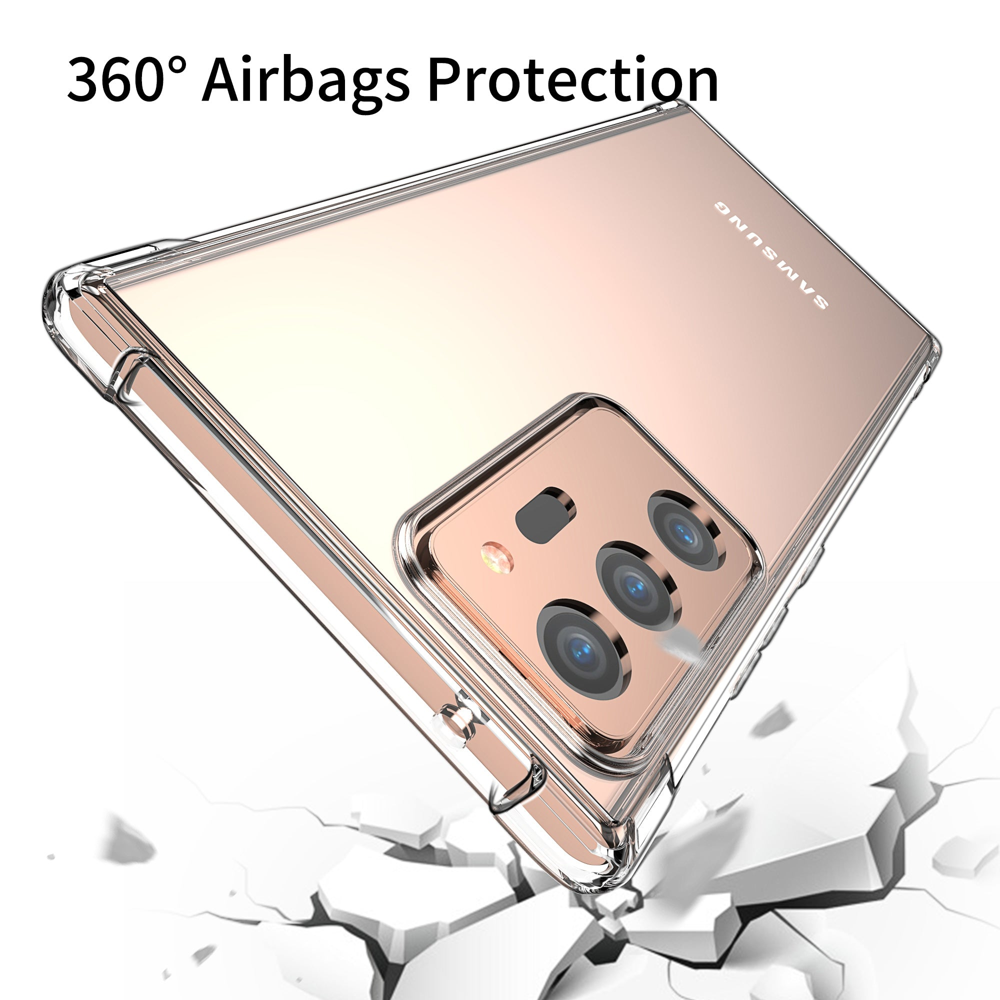 For Galaxy Note 20 Ultra 4G 5G Case Clear Shockproof Slim Bumper Cover