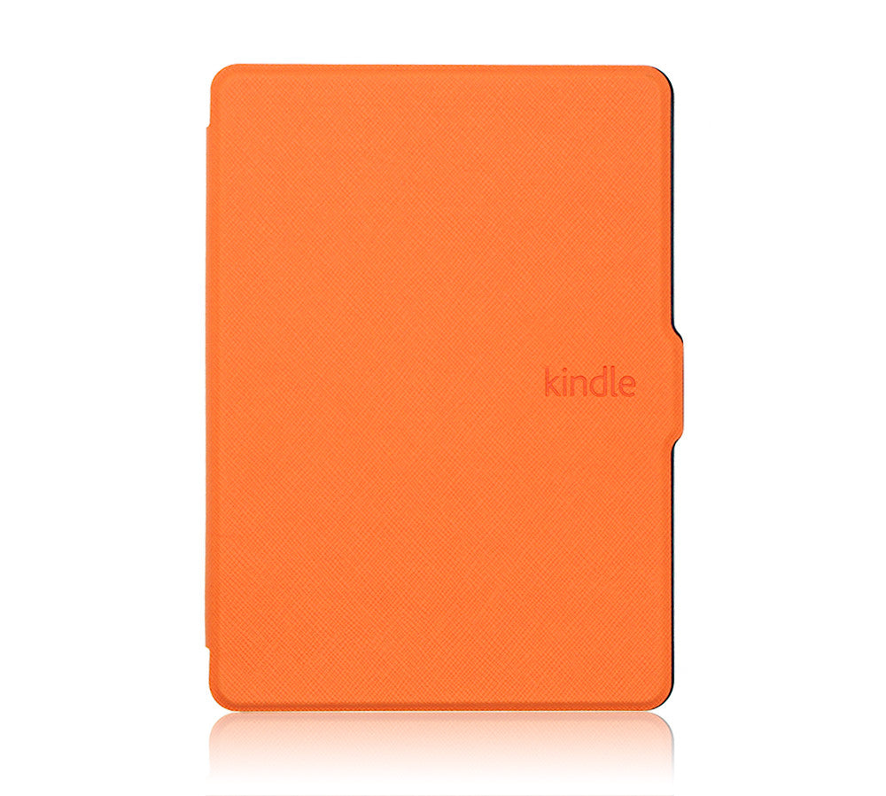Thinnest, Lightest PU Leather Smart Case for Kindle Voyage - Orange