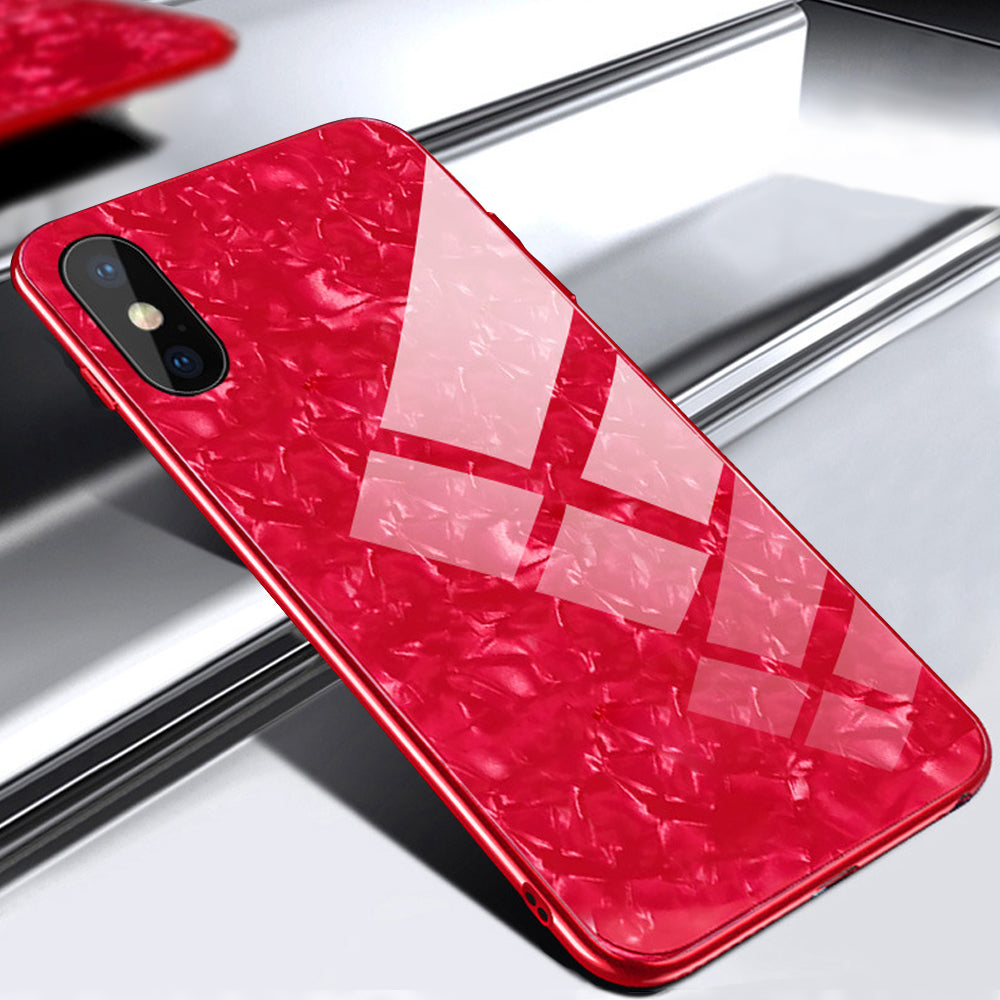 iPhone XR Luxury Shockproof Back Tempered Glass Case Cover