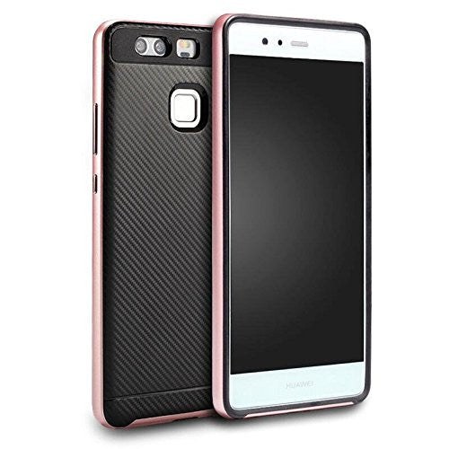 Taggshield Dual Bumper Slim Fit Skin Silicone Case For Huawei P9 (Rose Gold)