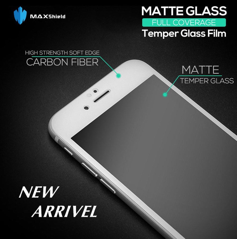 GENUINE MAXSHIELD MATTE TEMPERED GLASS SCREEN PROTECTOR FOR APPLE IPHONE 7 IPHONE 7 PLUS