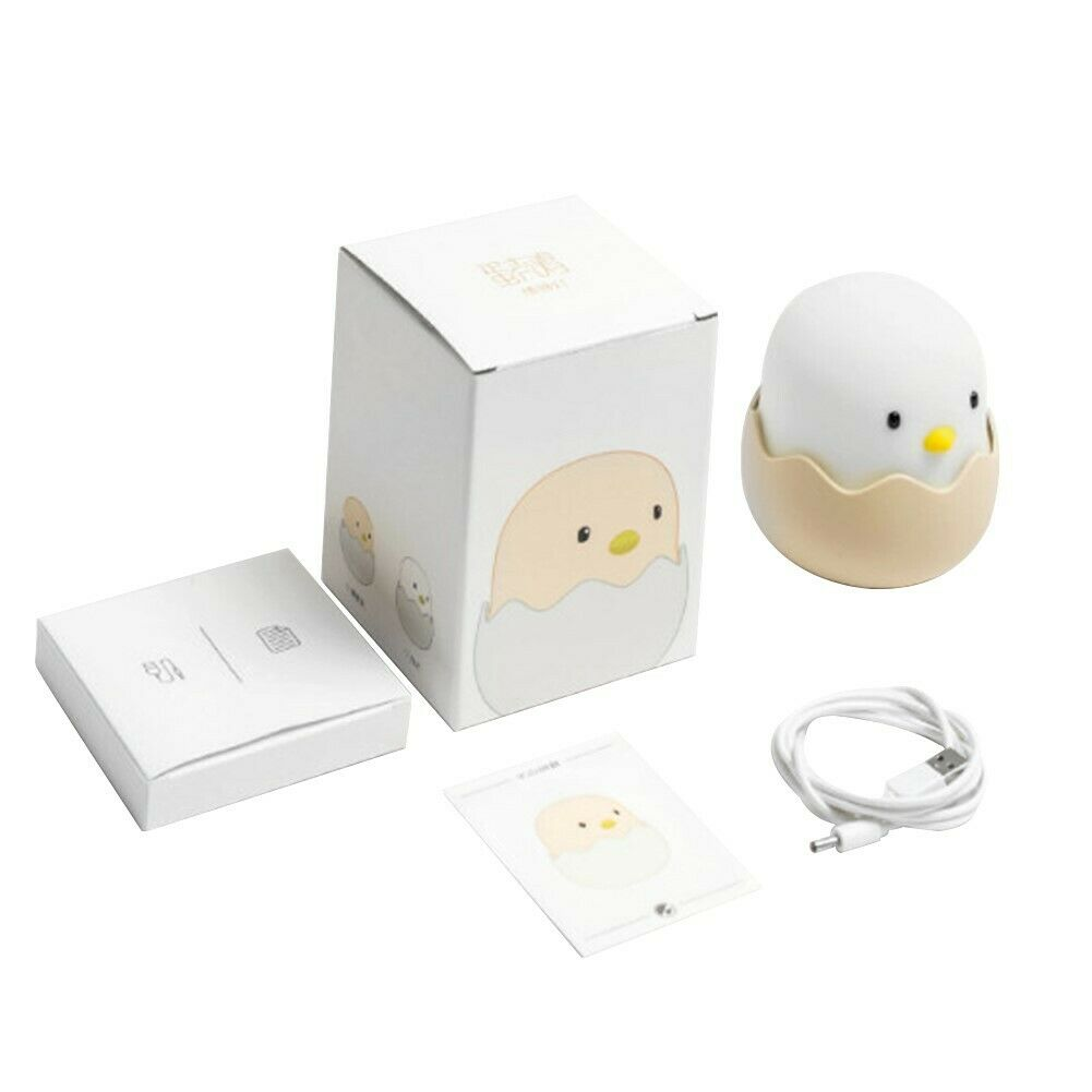 Night Light for Baby Cute Chick Lamp Safe Silicone LED Touch Bedside