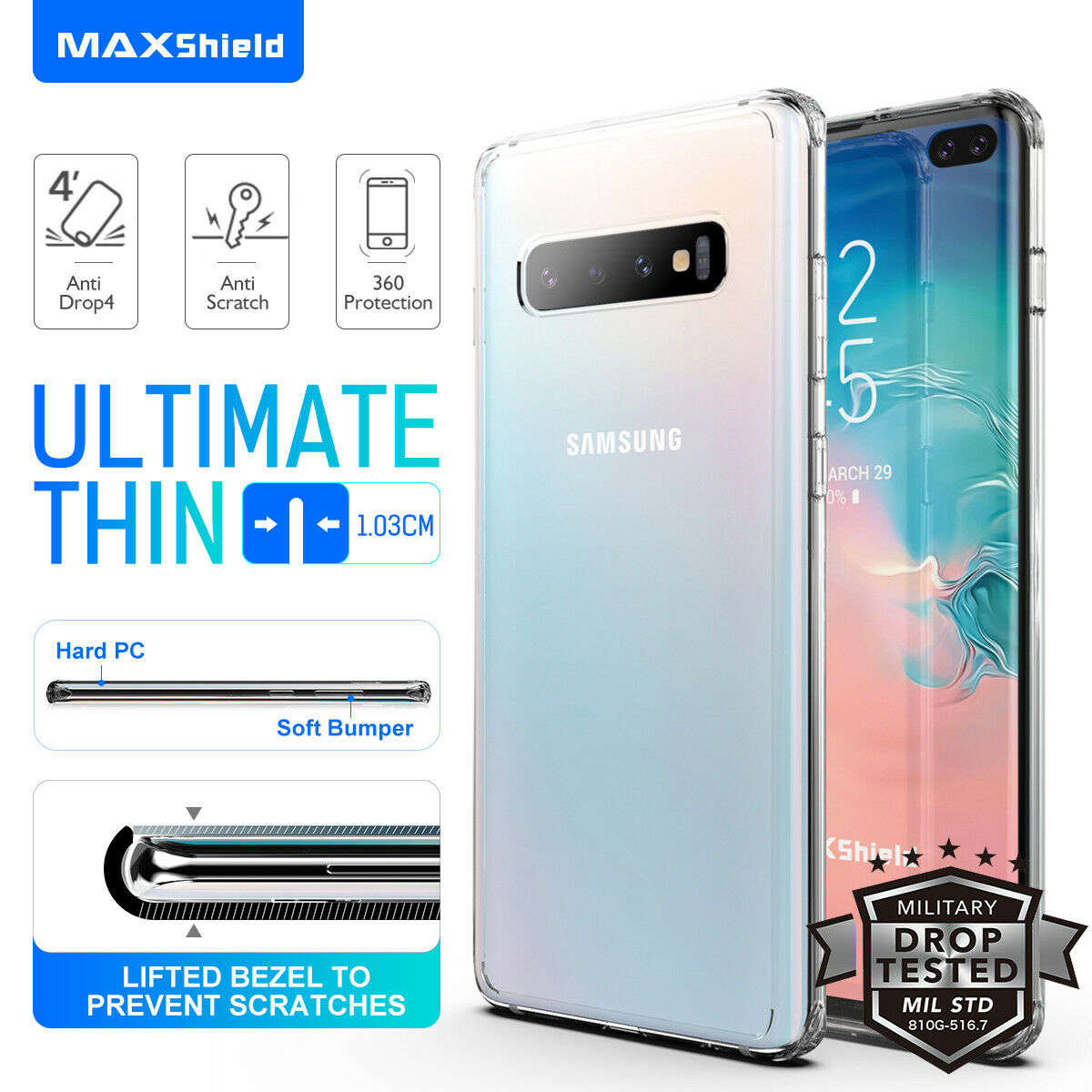 Samsung Galaxy S10E Case Shockproof Crystal Bumper Case Cover