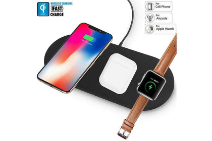 3in1 QI Wireless charger charge Station Dock for Apple Watch iPhone