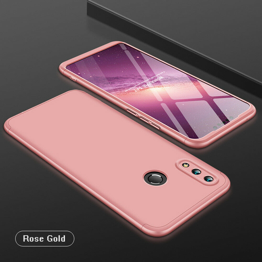 360° Full Tough Cover Shockproof Heavy Duty Bumper Armor Case For Huawei Nova 3i-Rose Gold