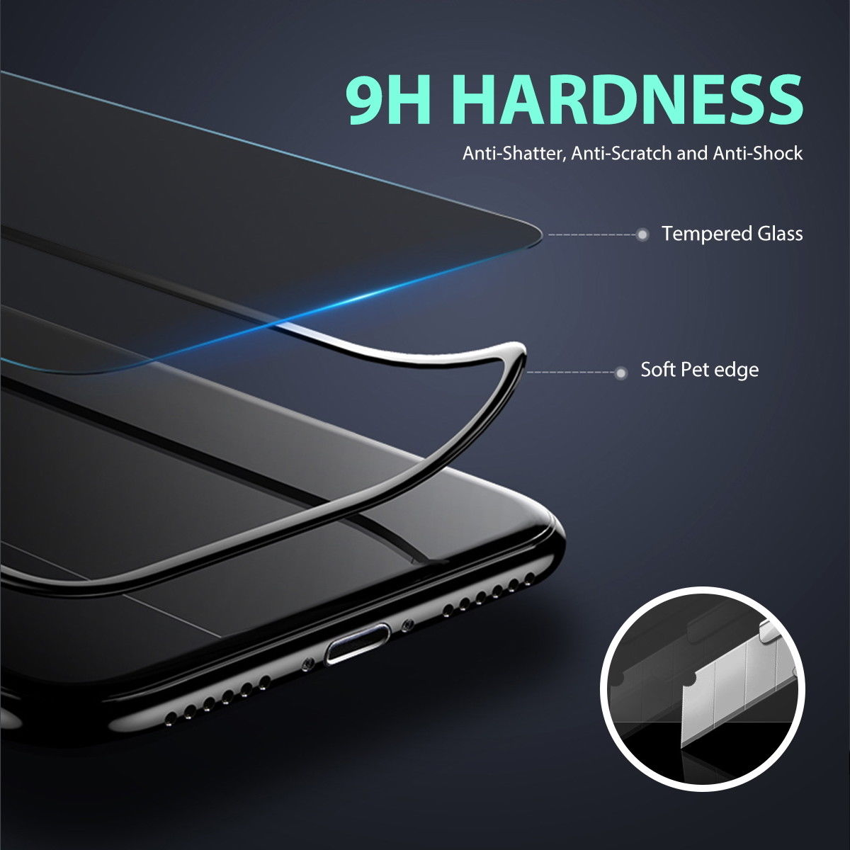 MAXSHIELD iPhone 8 Plus Front+Back Tempered Glass Screen Protector Cove