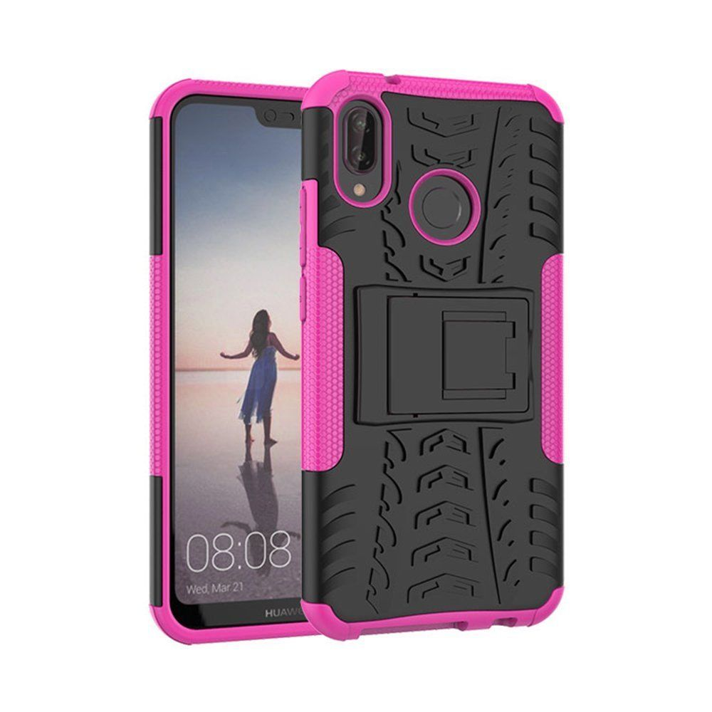 For Huawei Nova 3E Heavy Duty Tough Shockproof Strong Case Cover-Pink