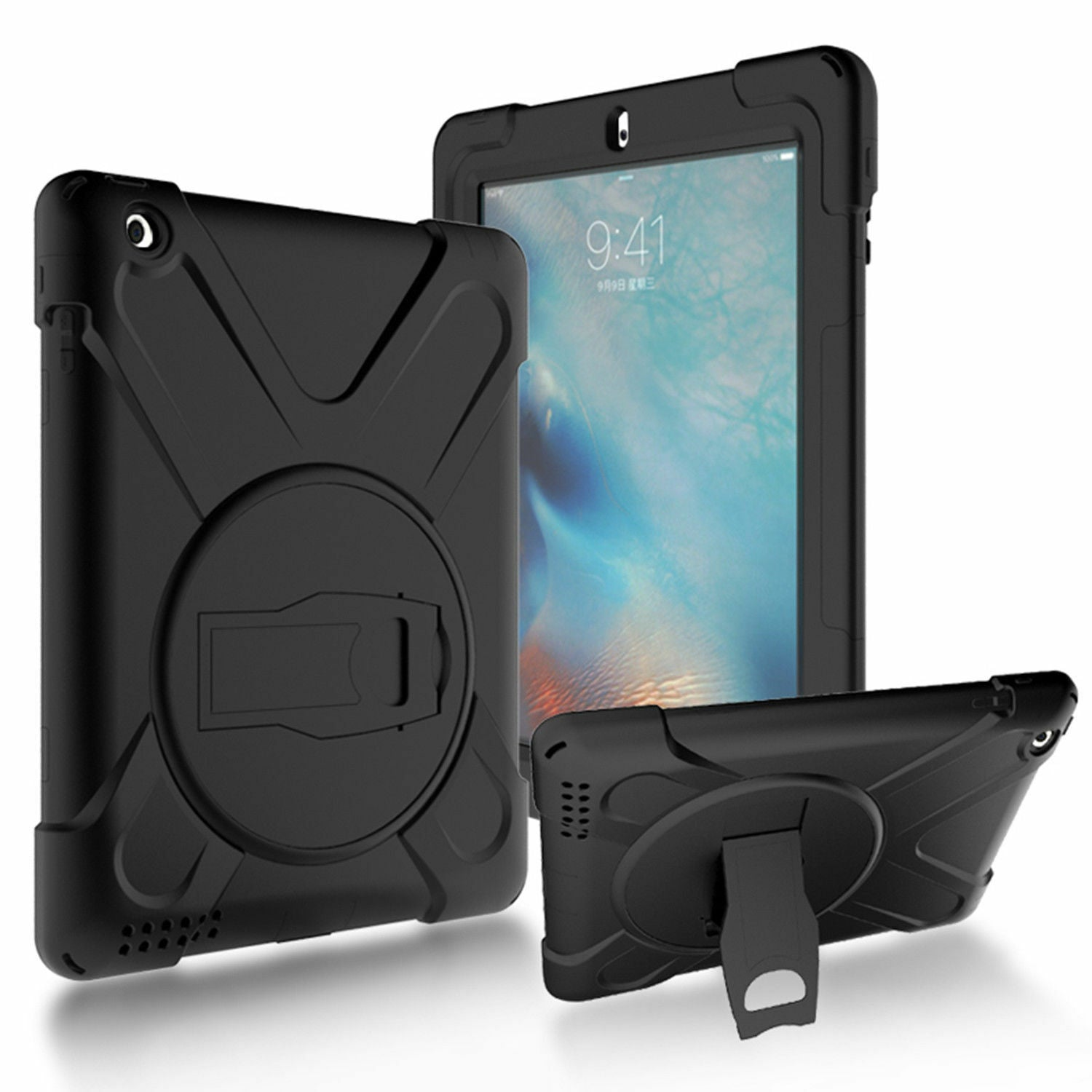 Heavy Duty Hybrid Shockproof Case Cover For iPad Air 2