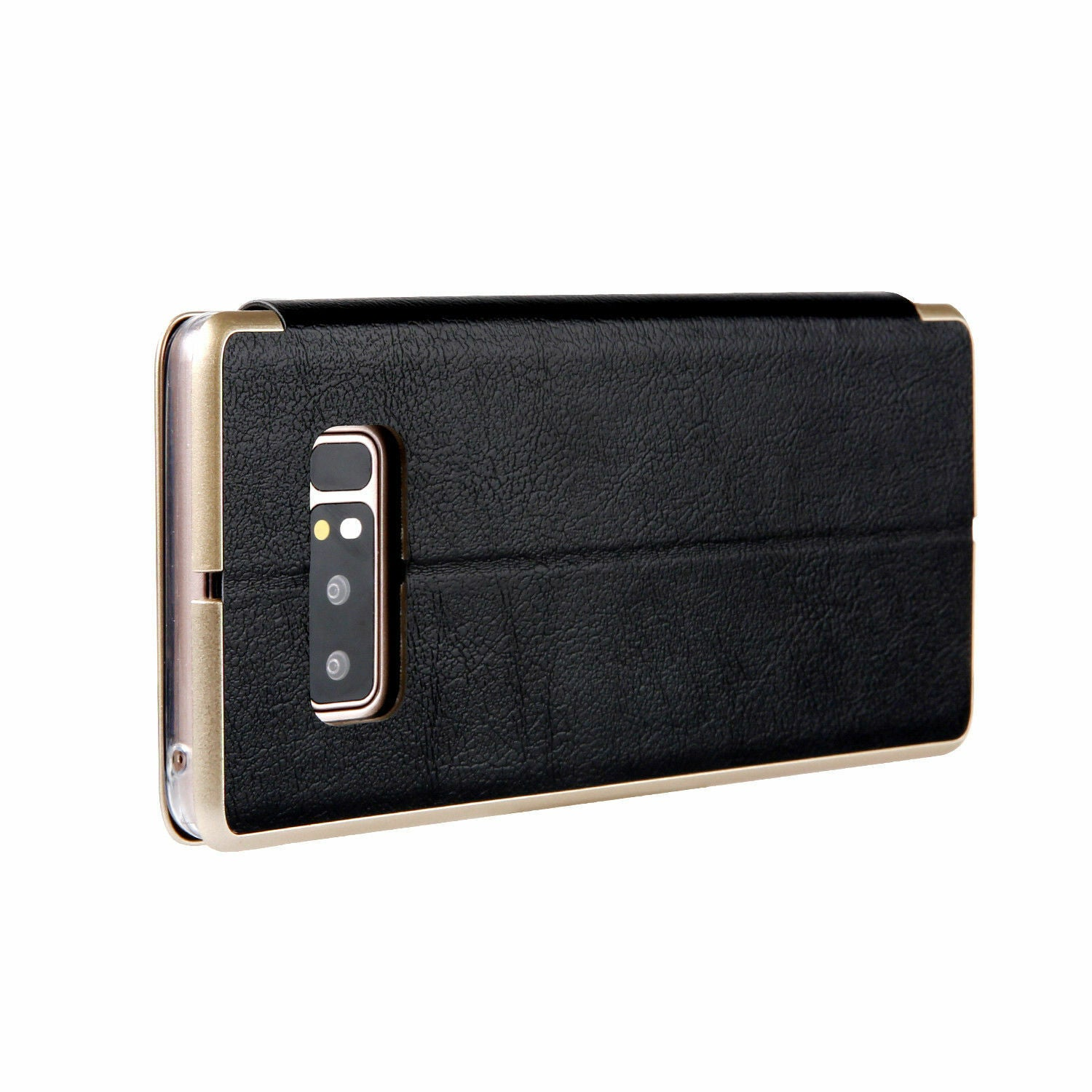 Samsung Galaxy S10 Flip Leather Wallet Card Magnetic Case Cover-Black