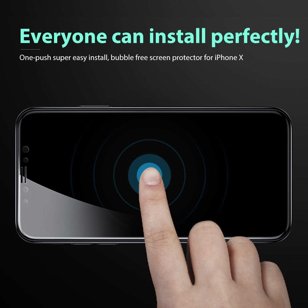 MAXSHIELD iPhone 7 Plus Front+Back Tempered Glass Screen Protector Cove