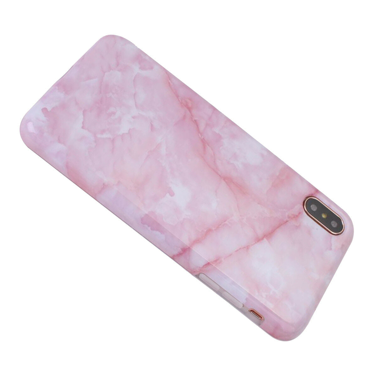 iPhone XR Case Marble Pattern Soft TPU Gel Shockproof Cover