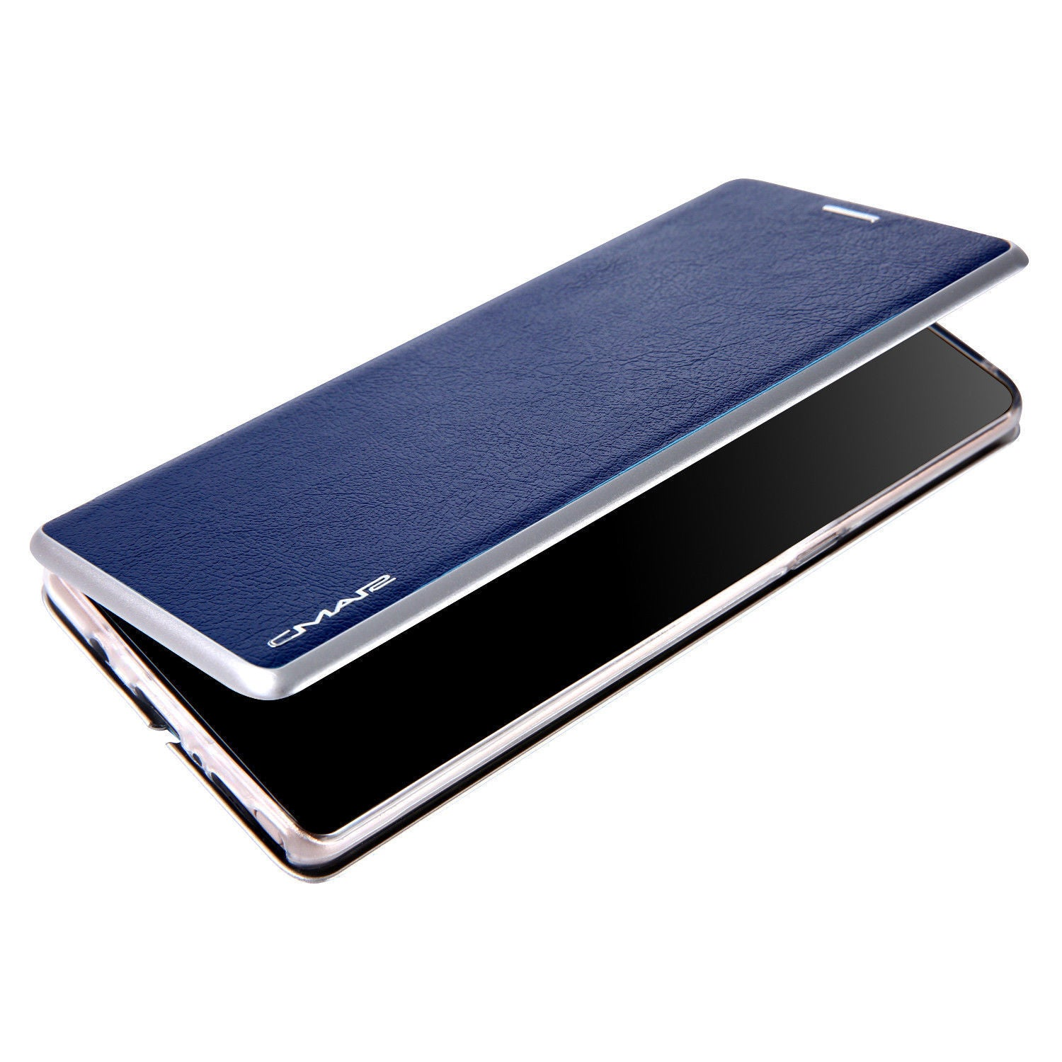 Samsung Galaxy S9 Flip Leather Wallet Card Magnetic Case Cover-Blue