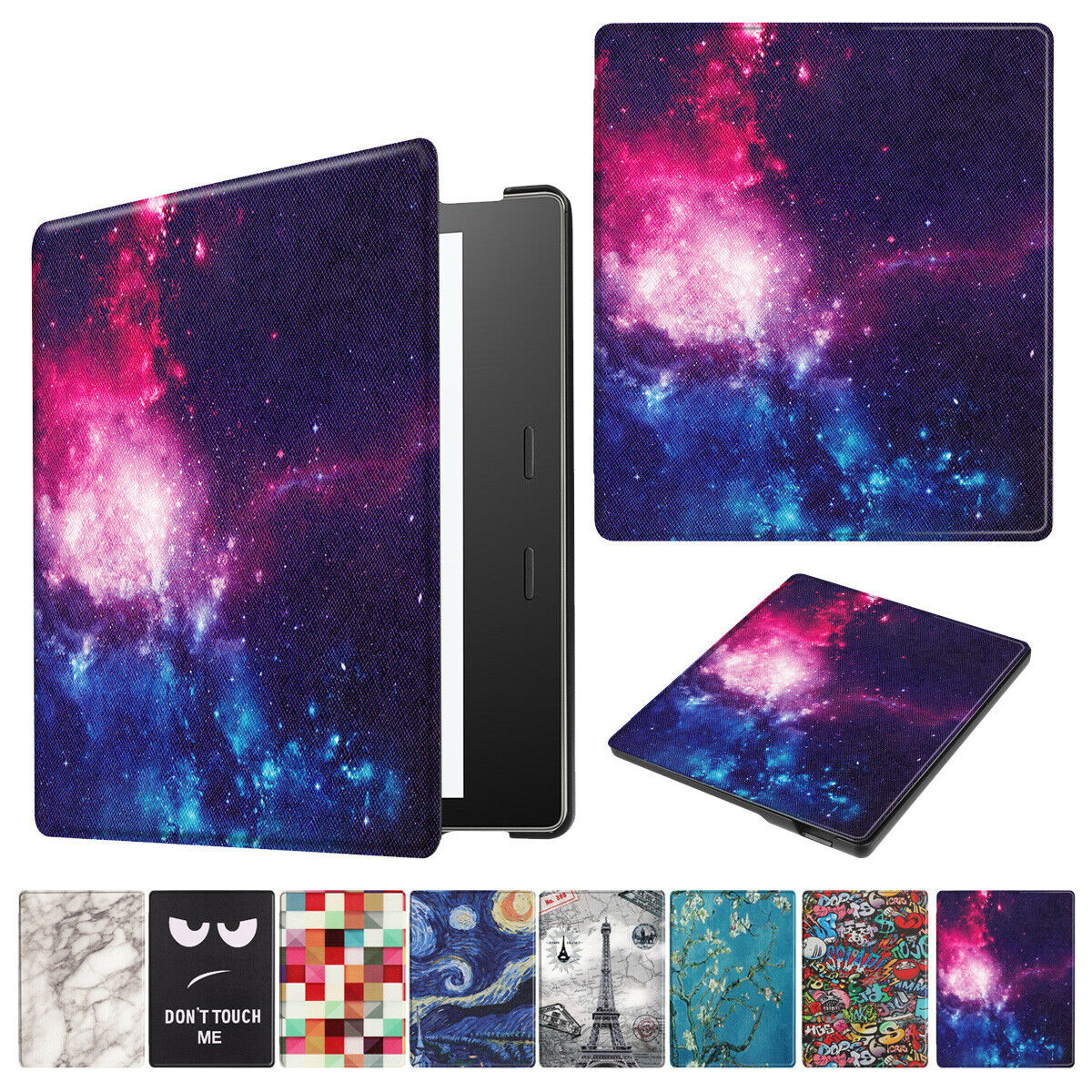For New Amazon All New Kindle 2019 Painting Leather Smart Cover--Tower
