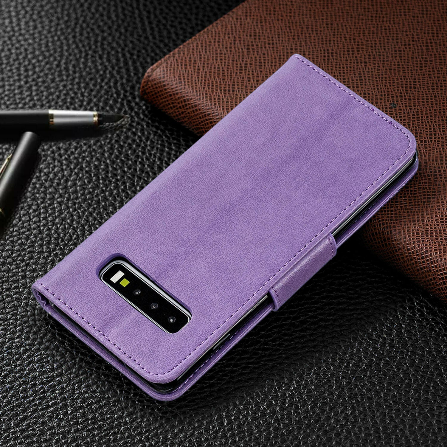 For Samsung Galaxy Note 10 Plus Phone Case Leather Wallet Cover