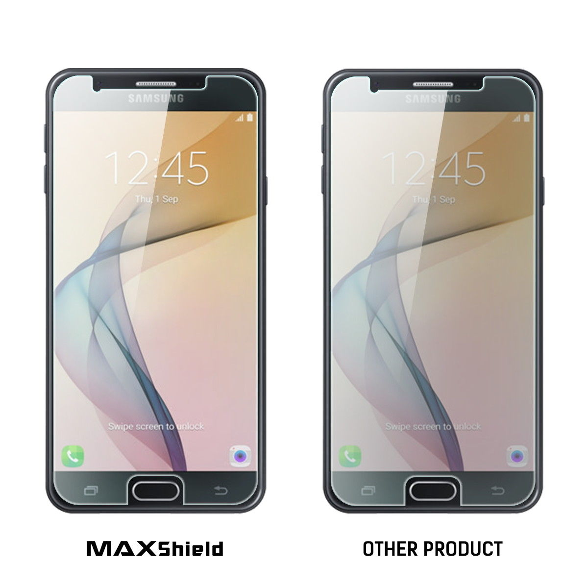 MAXSHIELD Tempered Glass Screen Protector For Samsung Galaxy J5 Prime