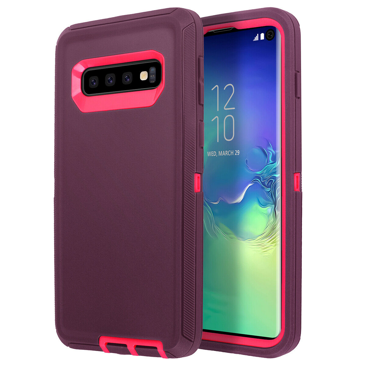 Samsung Galaxy S9 Case Shockproof Hybrid Rubber Armor Rugged Cover-Gray White
