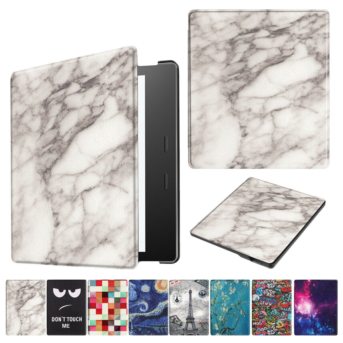 For New Amazon All New Kindle 2019  Painting Leather Smart Cover--Flower