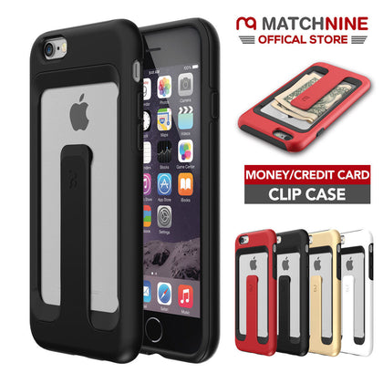 Genuine Matchnine Wallet Card Clip Carrying Case Cover For iPhone 6 / 6s Plus