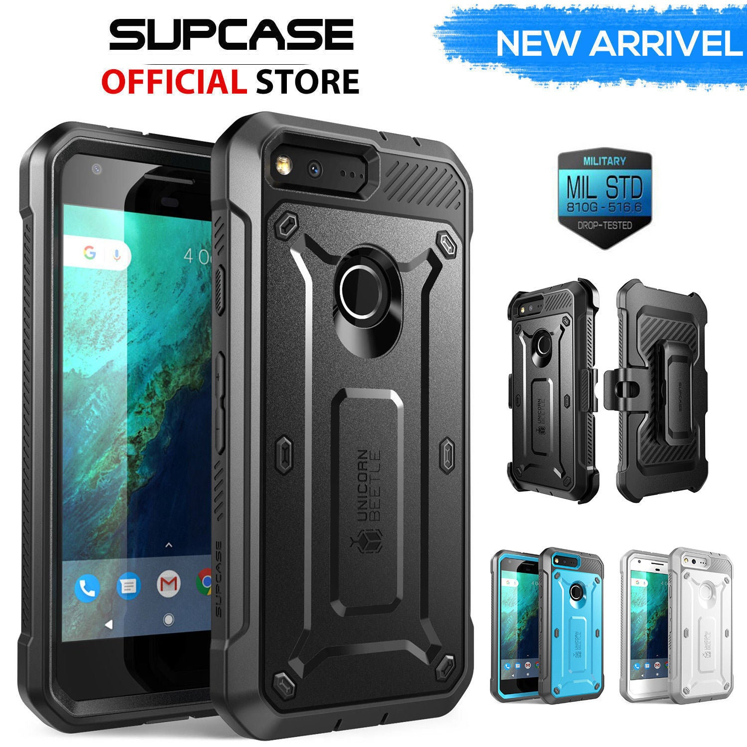 Genuine SUPCASE Shockproof Heavy Duty Armor Tough Case For Google Pixel