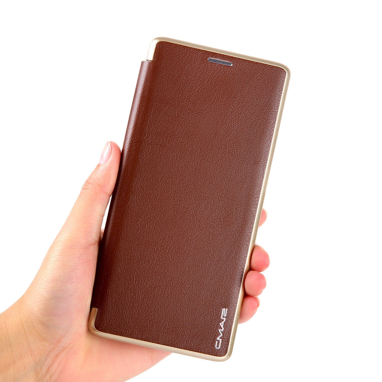 Samsung Galaxy S10 Flip Leather Wallet Card Magnetic Case Cover-Brown