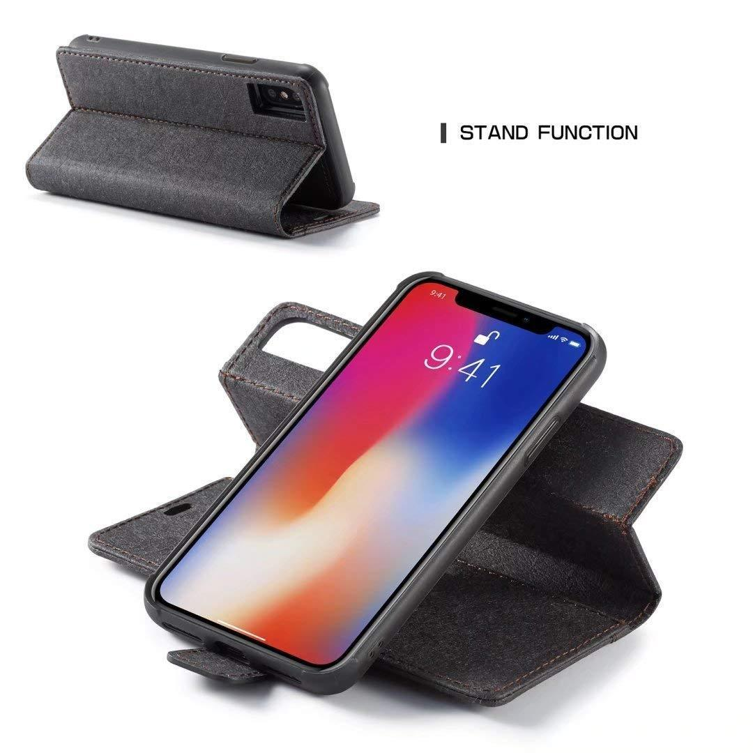 iPhone 11 Pro Luxury Magnetic Leather Removable Wallet Case