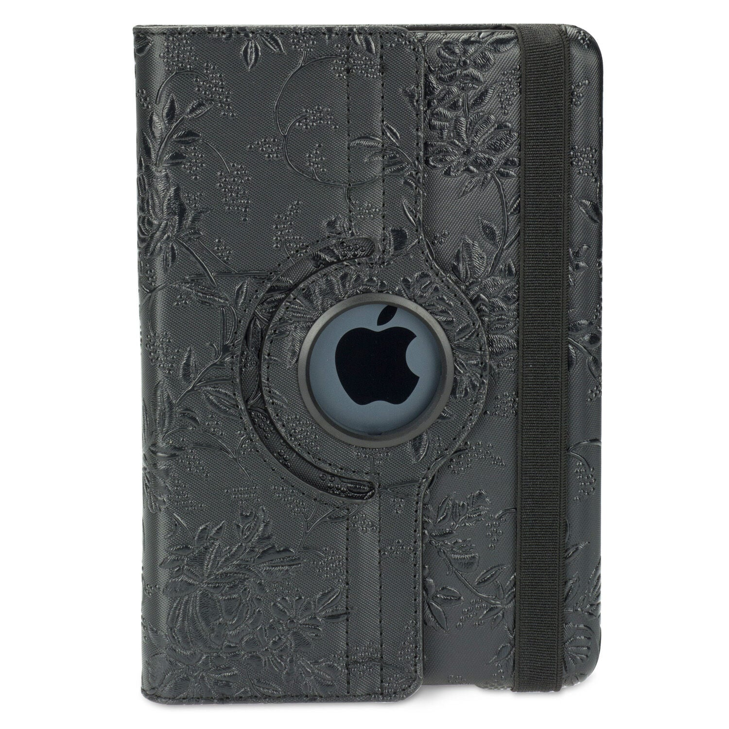 Leather Smart Case Rotating Cover for Apple iPad Mini 1/2/3-black