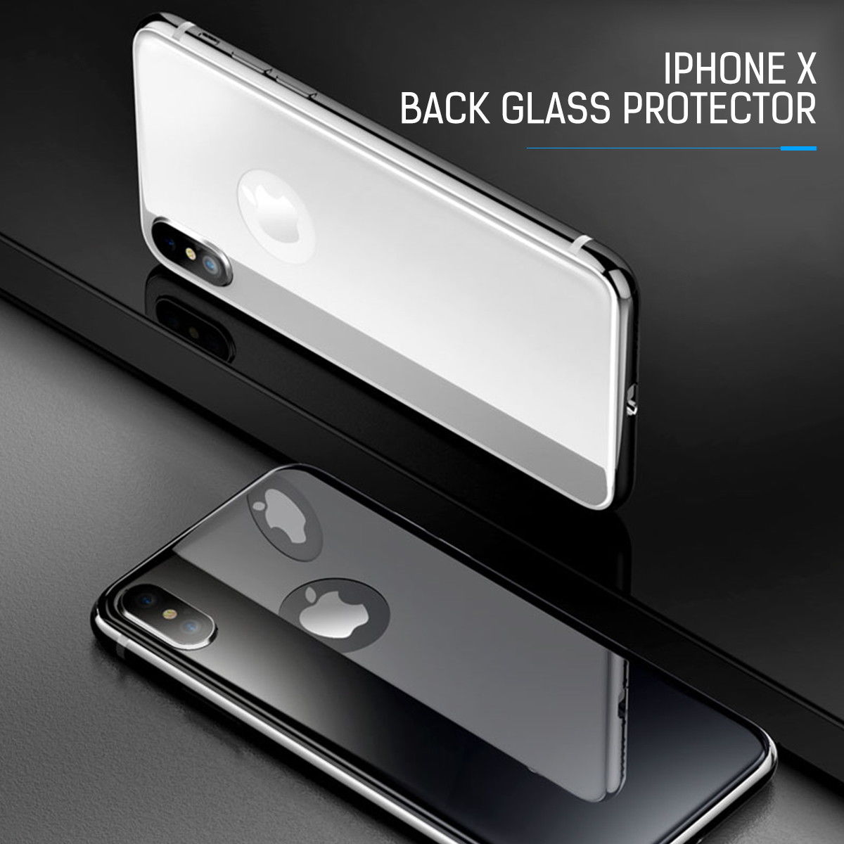 For iPhone 8 Plus Front & Back 3D Tempered Glass Screen Protector Cover