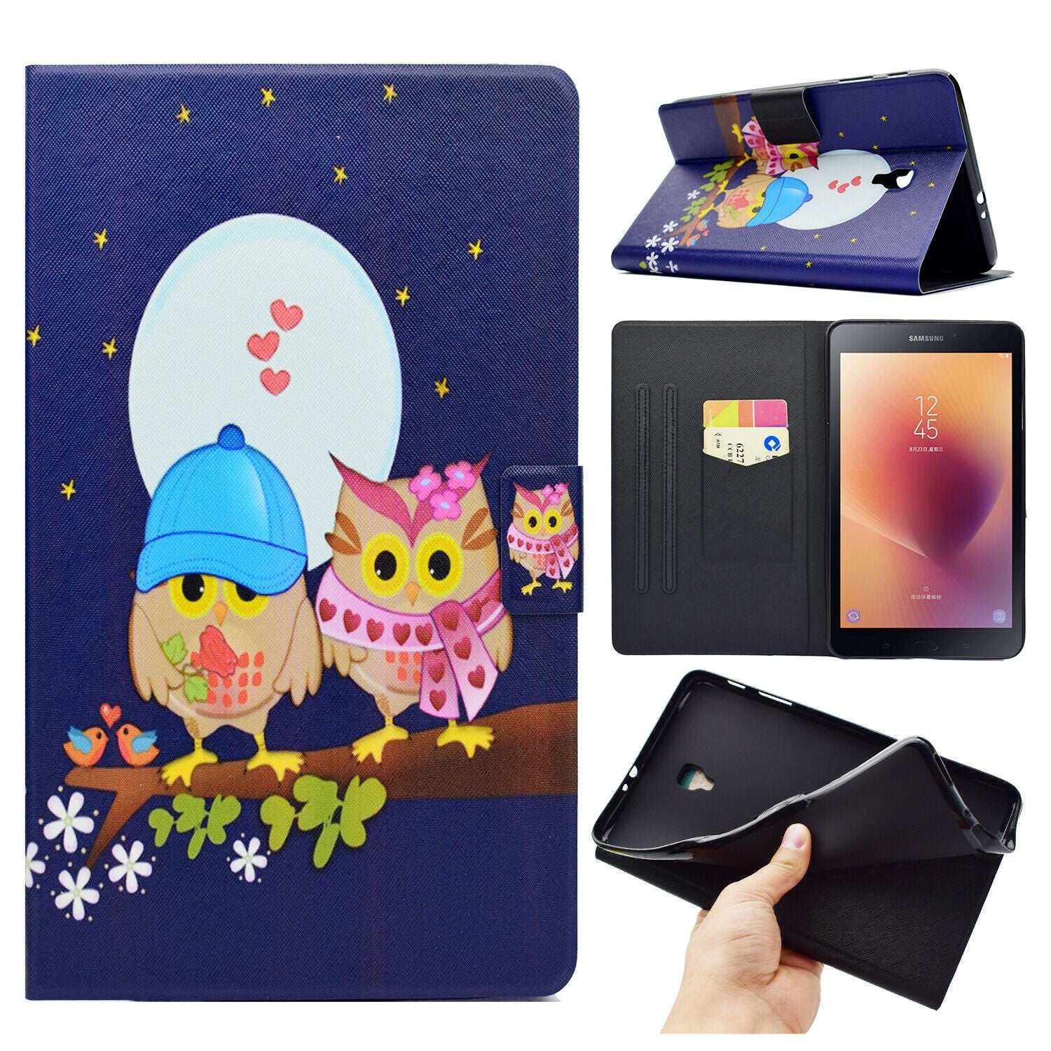 "For Samsung Tab A 10.1"" 2019 SM-T510 T515 Tablet Case Smart Magnet Leather Cover-19 Patterns"