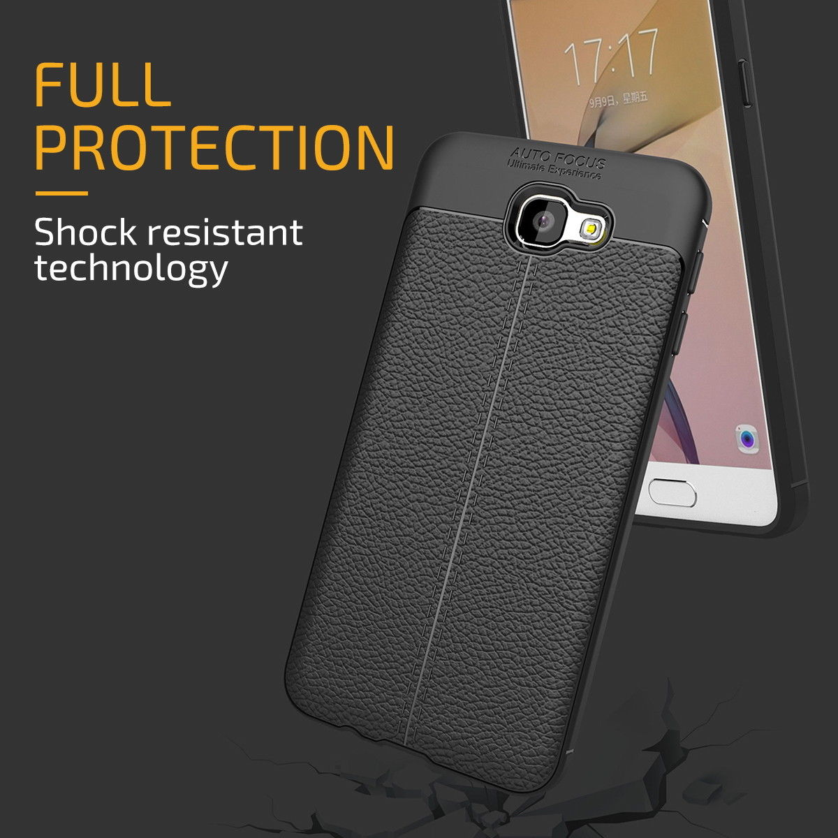 PU Leather Anti-Slip Shockproof Case Protective Cover For Galaxy J3 2016