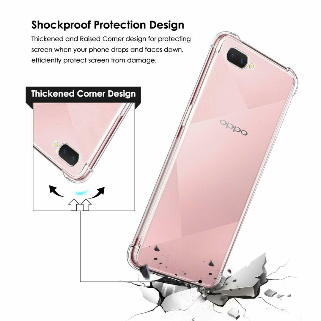 Shockproof Tough Gel Clear Case Cover for Oppo  AX5S