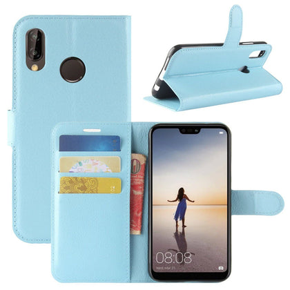 New Premium Leather Wallet Case TPU Cover For HUAWEI Nova 3i-Skyblue