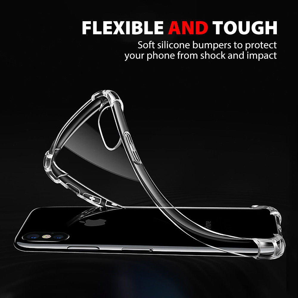 iPhone XR Ultra Clear Shockproof Bumper Back Case Cover